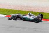 SEPANG, MALAYSIA - APRIL 8: Michael Schumacher (team Mercedes Pe — Stock Photo