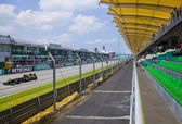 SEPANG, MALAYSIA - APRIL 8: Jarno Trulli (Team Lotus) at second — Stock Photo
