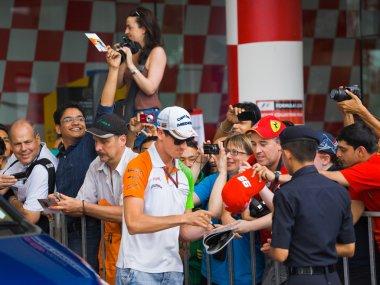 SEPANG, MALAYSIA - APRIL 10: Adrian Sutil (team Force India) at
