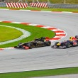 SEPANG, MALAYSIA - APRIL 10: Cars on track at race of Formula 1 - Stock Photo