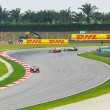 SEPANG, MALAYSI- APRIL 9: Cars on track at qualification of Fo — Stock Photo #8252302