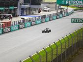 SEPANG, MALAYSIA - APRIL 8: Jarno Trulli (team Lotus) at first p — Stock Photo