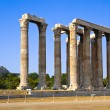 Temple of Zeus and Lycabettus hill at Athens — Stock Photo
