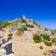 Ruins of old fort in Mystras, Greece - Stock Photo