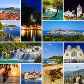 Collage of Croatia travel images — Foto de Stock