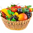 Basket with fruits — Stock Photo #8424543