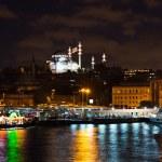 Istanbul Turkey at night — Stock Photo