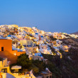 Santorini night (Oia) - Greece — Stock Photo
