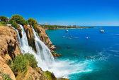 Waterfall Duden at Antalya, Turkey — Stock Photo