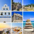 Collage of Greece travel images — Stock Photo