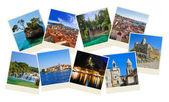 Stack of Croatia travel photos — Stock Photo