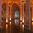 Underground water Basilica Cistern - Istanbul — Stock Photo