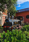 Statue of orient express at Istanbul Turkey — Stock Photo