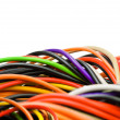 Multicolored computer cable — Stock Photo