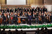 MOSCOW, RUSSIA - NOVEMBER 15: Russian National Orchestra perform — Stock Photo