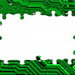 Computer board made of puzzle — Stock Photo