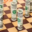 Money on chess board — Stock Photo #8702913