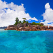 Tropical island at Seychelles — Stock Photo