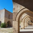 Courtyard of the Sultanhani caravansary at Turkey — Stock Photo