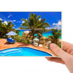 Beach photography in hand — Stock Photo