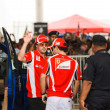 SEPANG, MALAYSIA - APRIL 10: Fernando Alonso and Felipe Massa (F — Stock Photo #8878670
