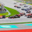 SEPANG, MALAYSIA - APRIL 10: Cars on track at race of Formula 1 — Stock Photo
