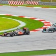SEPANG, MALAYSI- APRIL 10: Cars on track at race of Formul1 — Stock Photo #8878686