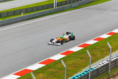 SEPANG, MALAYSIA - APRIL 8: Adrian Sutil (team Force India) at f — Stock Photo