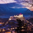 Royalty-Free Stock Photo: Salzburg and castle Hohensalzburg at sunset - Austria