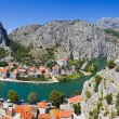 town omis in croatia — Stock Photo