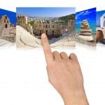 main Grèce défilement images de voyage — Photo