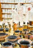 Ceramics souvenir shop — Stock Photo