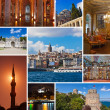 Collage of Istanbul Turkey images - Stock Photo