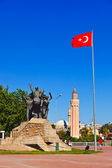 Mustafa Kemal Ataturk statue in Antalya Turkey — Stock Photo