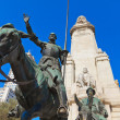 Don Quixote and Sancho Panzstatue - Madrid Spain — Stock Photo #9777308