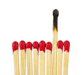 Matches - leadership or inspiration concept — Stock Photo