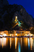 Old fort in Omis, Croatia at night — Stock Photo