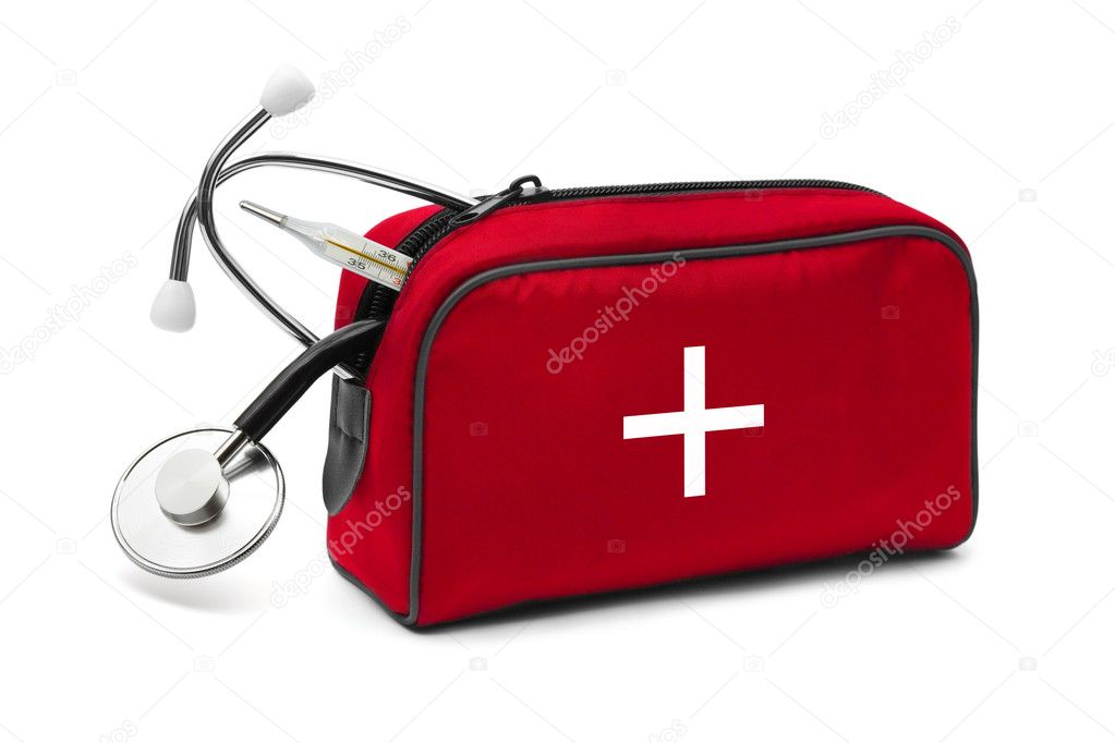 First aid kit isolated on white background — Stock Photo #9819664