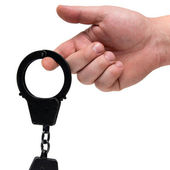Handcuffs Presentation — Stock Photo