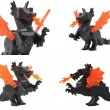 Toy dragon, draco lego — Stock Photo