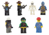 Miniature models of professions toy lego — Stock Photo