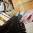 Woman playing piano hands - Stok fotoğraf