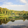 Stock Photo: Park lake with gazebo