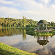 Park lake with gazebo — Stock Photo