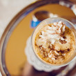 Coffee Latte with cream - Stock Photo