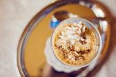 Coffee Latte with cream — Stock Photo