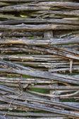 Old interlaced wood background — Stock Photo