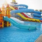Aquapark sliders, aqua park, water park — Stock Photo #8991722