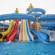 Stock Photo: Aquapark sliders, aqupark, water park
