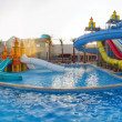 Stock Photo: Panorama aquapark sliders, aqua park, water park